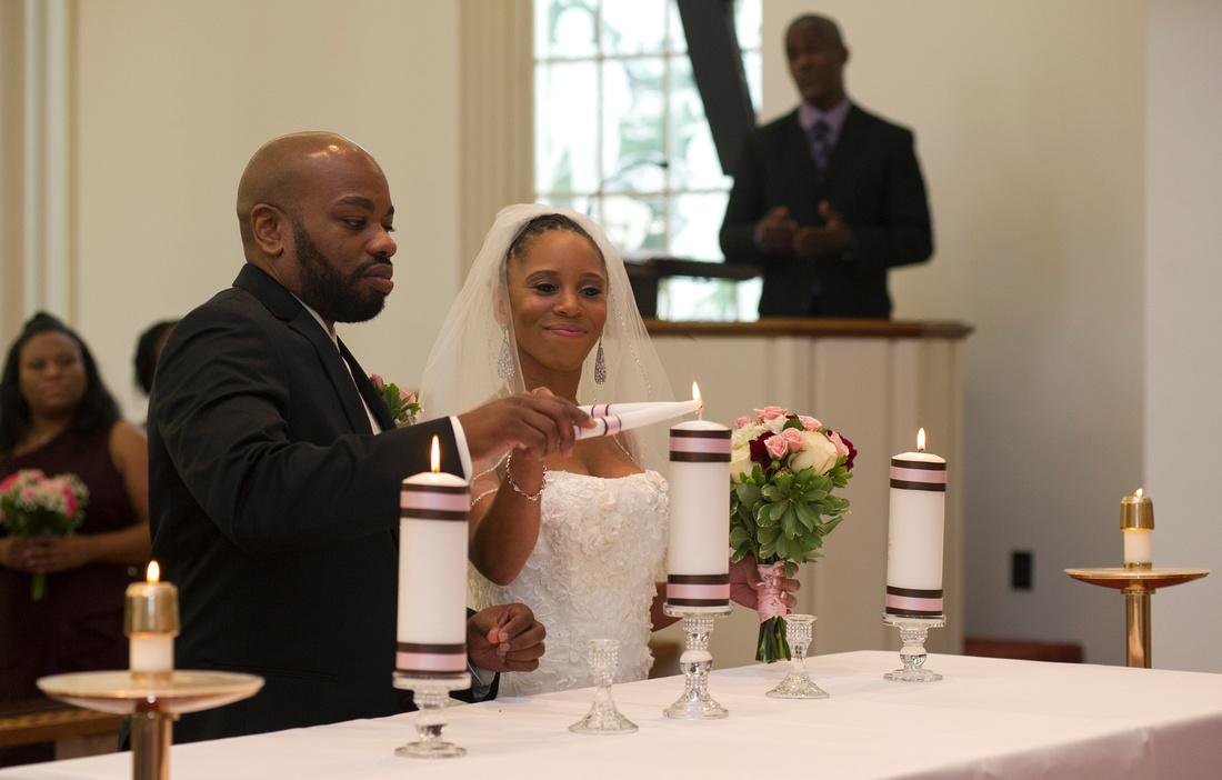 unity candle, wedding, couple