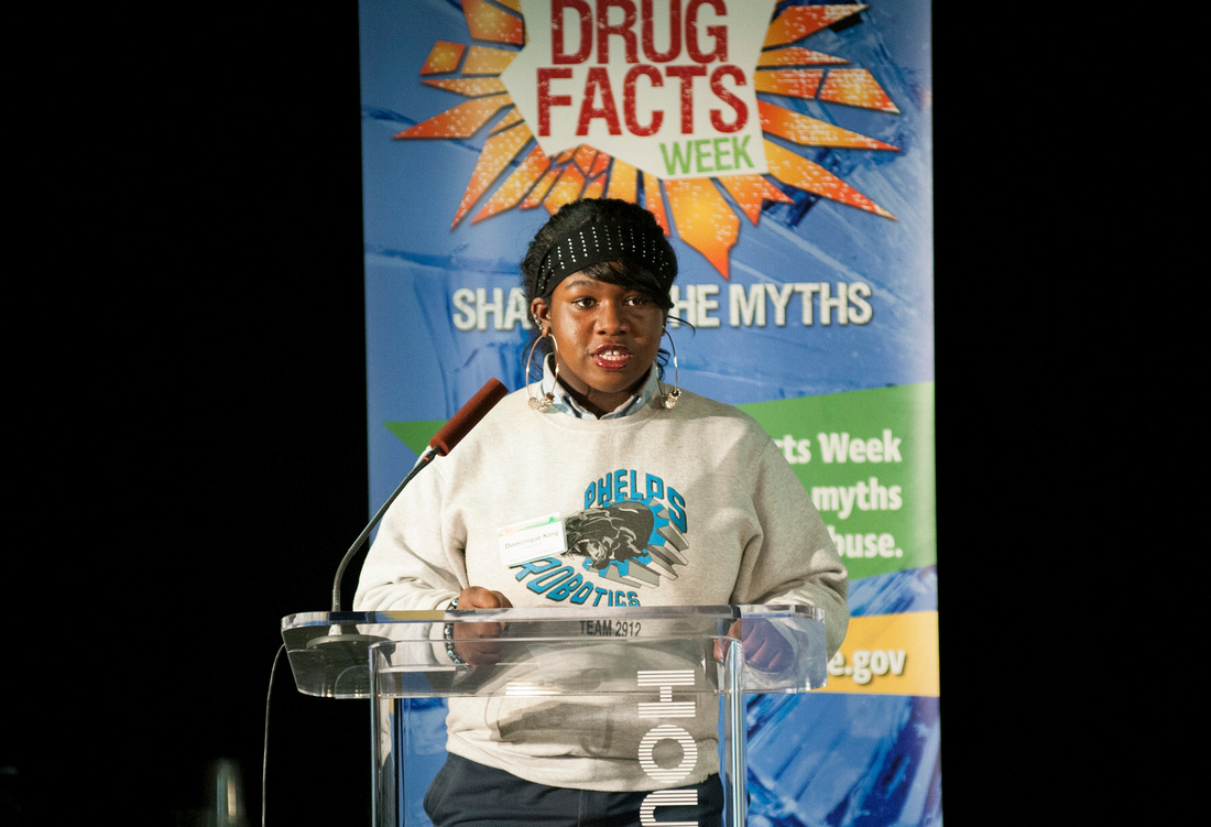 DC Youth Poetry Slam Team, National Drug Facts Day, spoken word