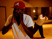Frankie Humphrey leads the hip-hop dance class at Studio B Dance Center on November 17, 2009.