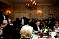 Bill Hones, left, Manny Bobenrieth, center, and Cleveland Chandler perform for guests during dinner at the 64th Annual George Washington Birthnight Supper and Ball at the Mount Vernon Inn on February