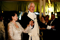 Dean Malissa, right, teaches Mimi Dailey the minuet during the 64th Annual George Washington Birthnight Supper and Ball at the Mount Vernon Inn on February 20, 2011.