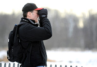 Pat Boyd, a biology teacher at Lee High School, looks for birds at Huntley Meadows Park on January 29, 2011. He reports his findings to ebird.org, which tracks bird species throughout the country. Boy