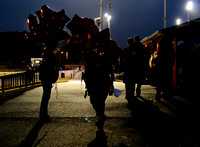 Edison supporters brought balloons to decorate their section of the Hayfield stadium for the second annual Battle of the Birds varsity field hockey game between Edison and Hayfield on September 29, 20