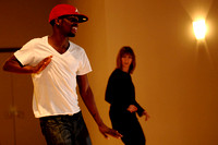 Frankie Humphrey leads Larisa Rudelson in the hip-hop dance class at Studio B Dance Center on November 17, 2009.